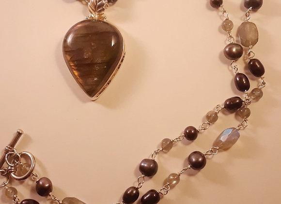 Long Labradorite Necklace