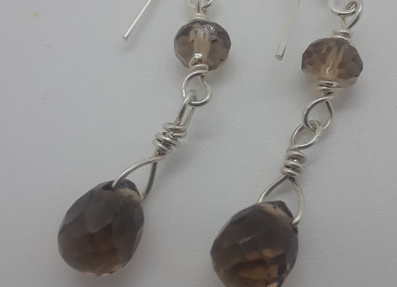 Smokey Quartz Bead earrings