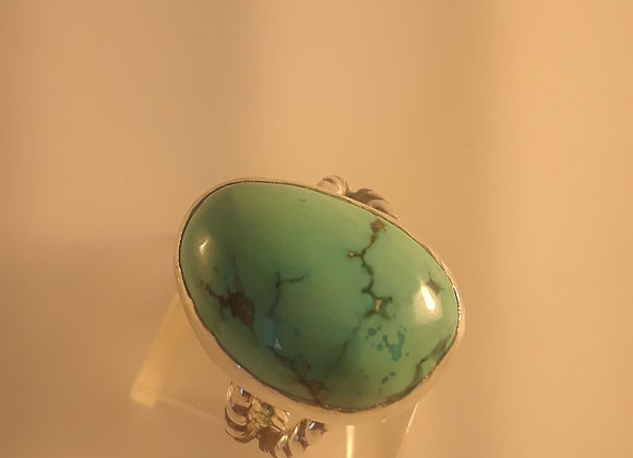 Natural turquoise sterling ring