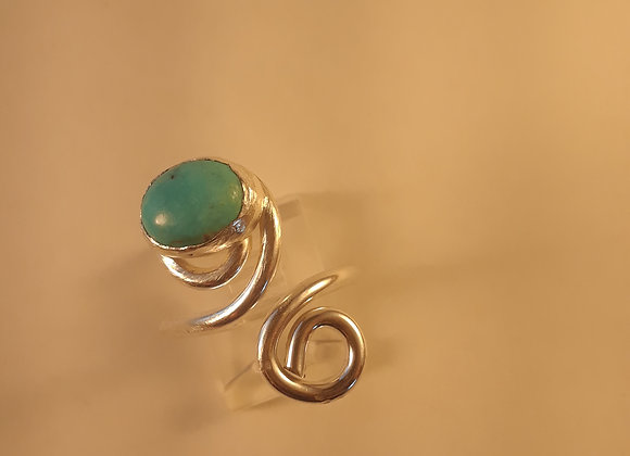 Turquoise Sterling Wrap Ring