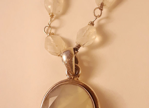 Moonstone Pendant with Matching Necklace