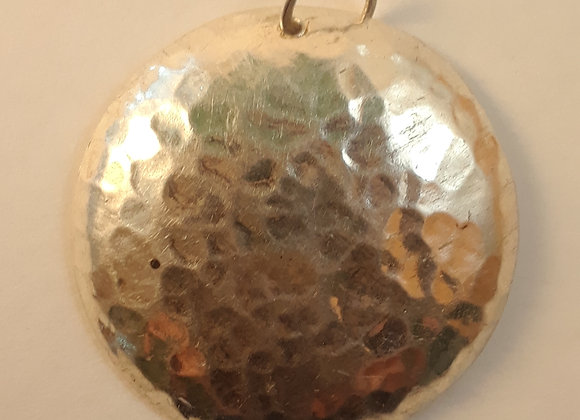 Round Hammered Disc Pendant