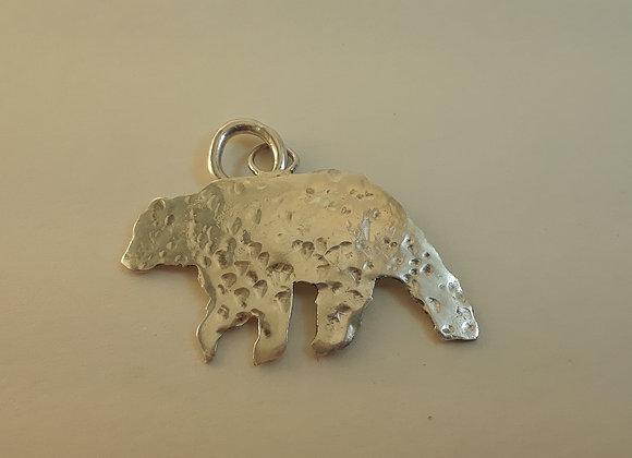 Sterling Hand-cut Bear Pendant