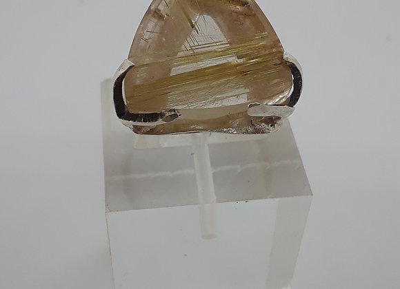 Rutilated Quartz Sterling silver ring1