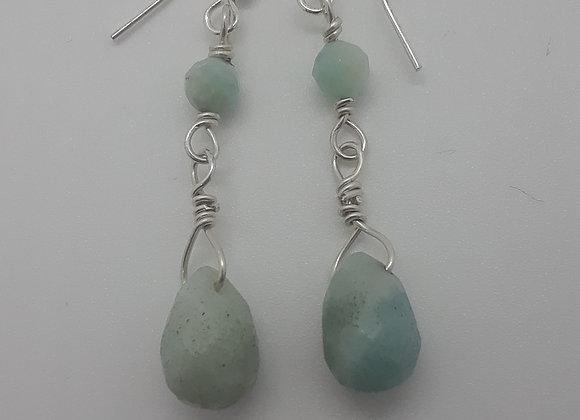 Amazonite Sterling earrings