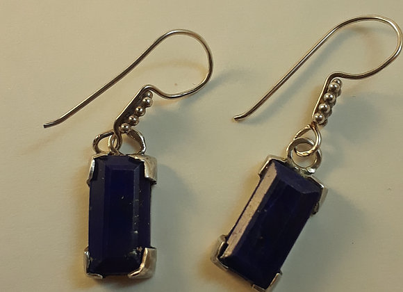 Facetted Lapis Lazuli Earrings