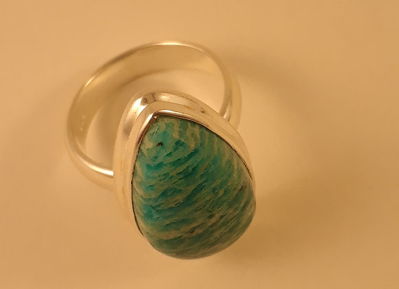 Amazonite Sterling Ring