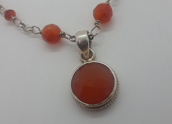 Facetted Carnelian Necklace