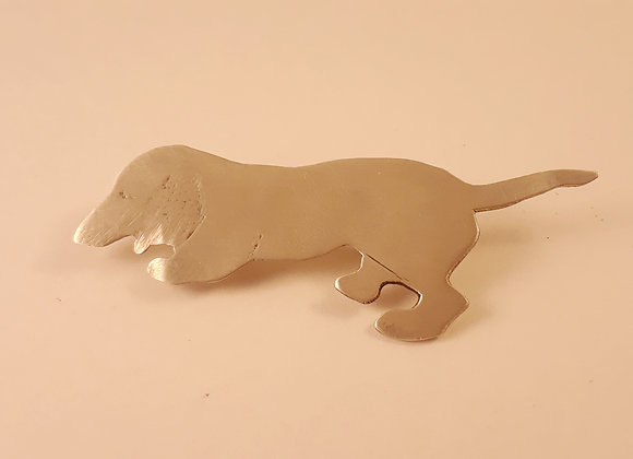 Sterling Dachshund Pin