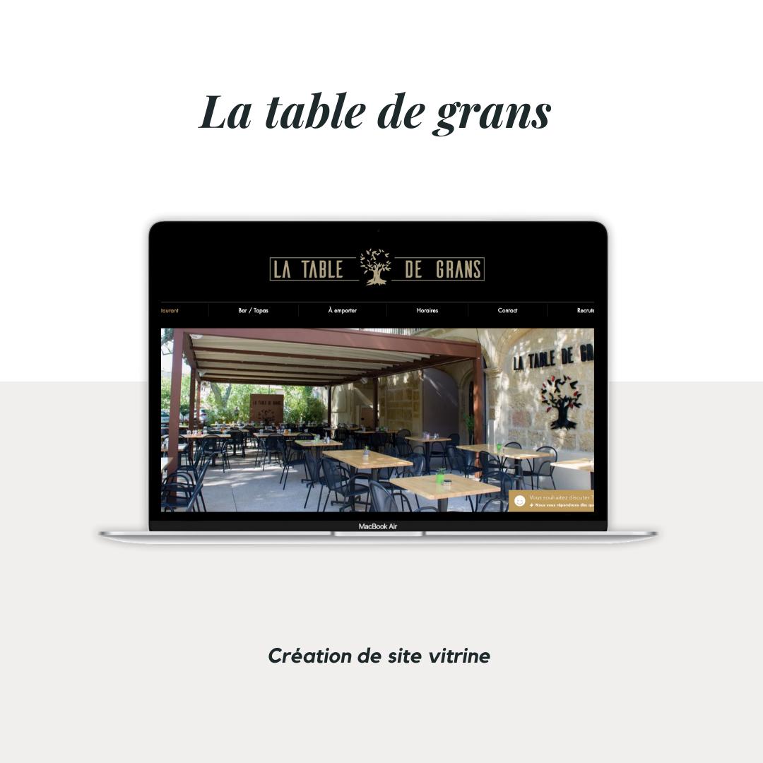La table de grans