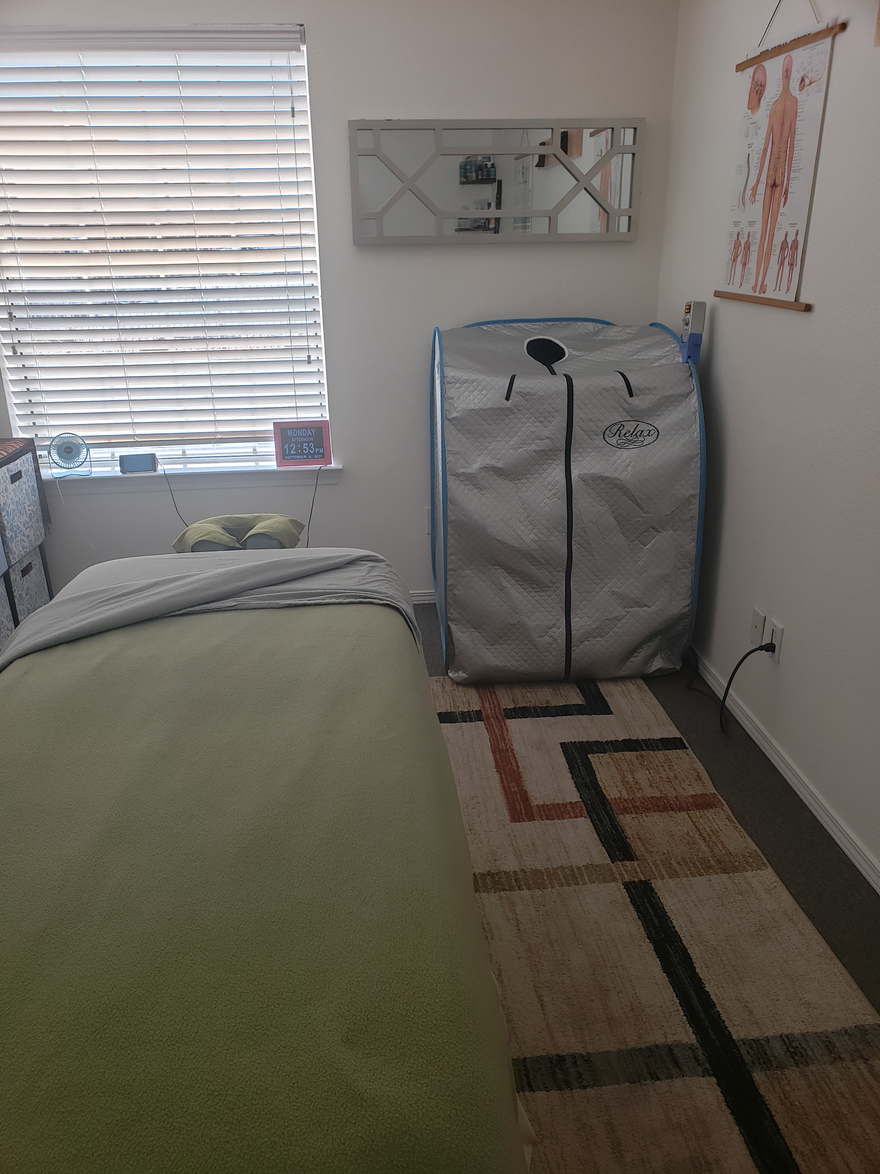 10min Infrared Sauna with 60min massage