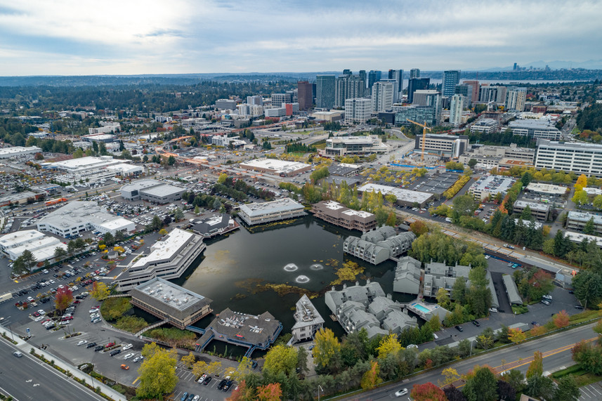 Downtown Bellevue at Bellvue Lake