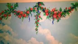 Роспись стен спальни Красногорск 2015 акрил 4 м2 (15)