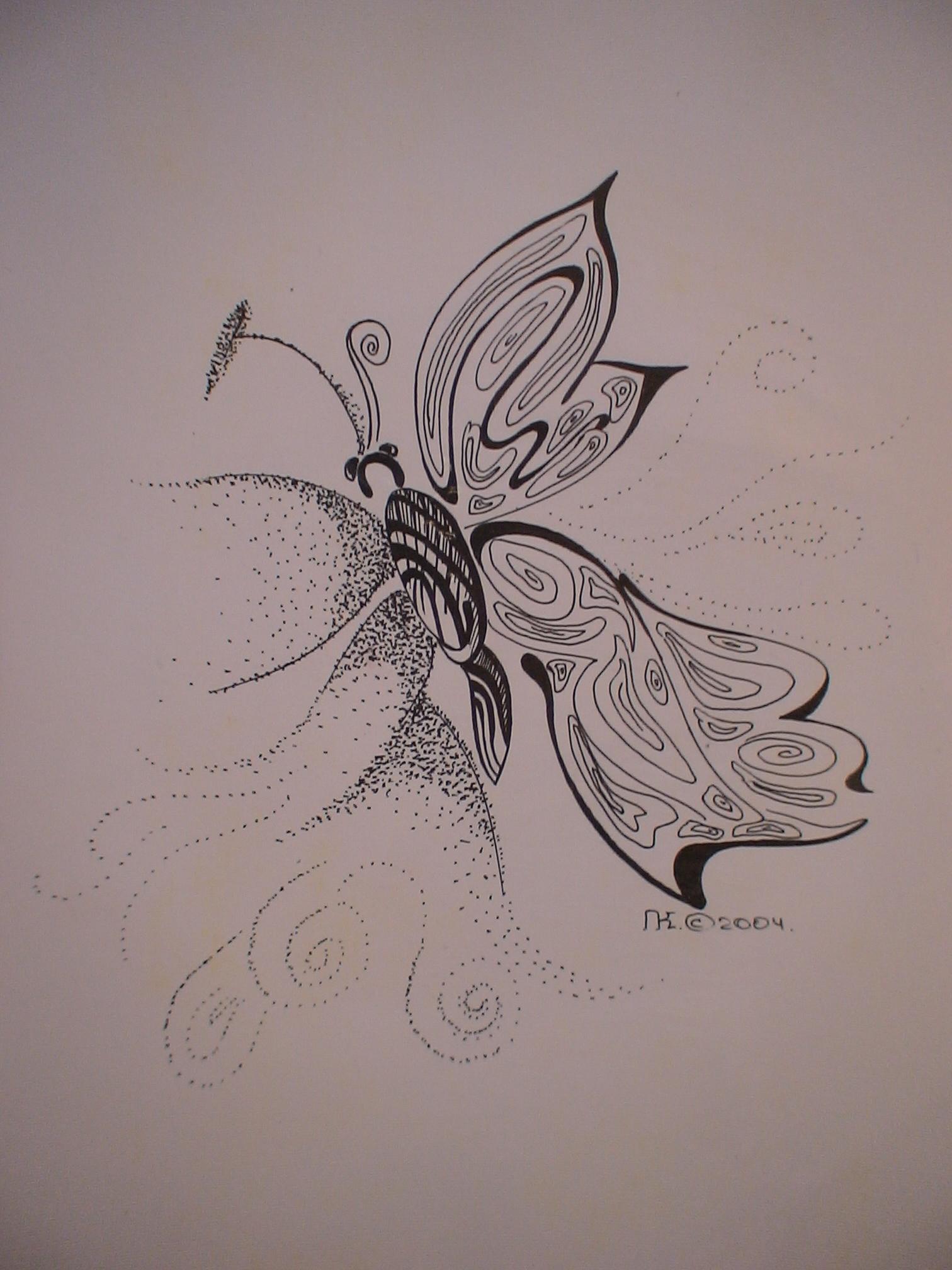 рисуногк - бабочка
