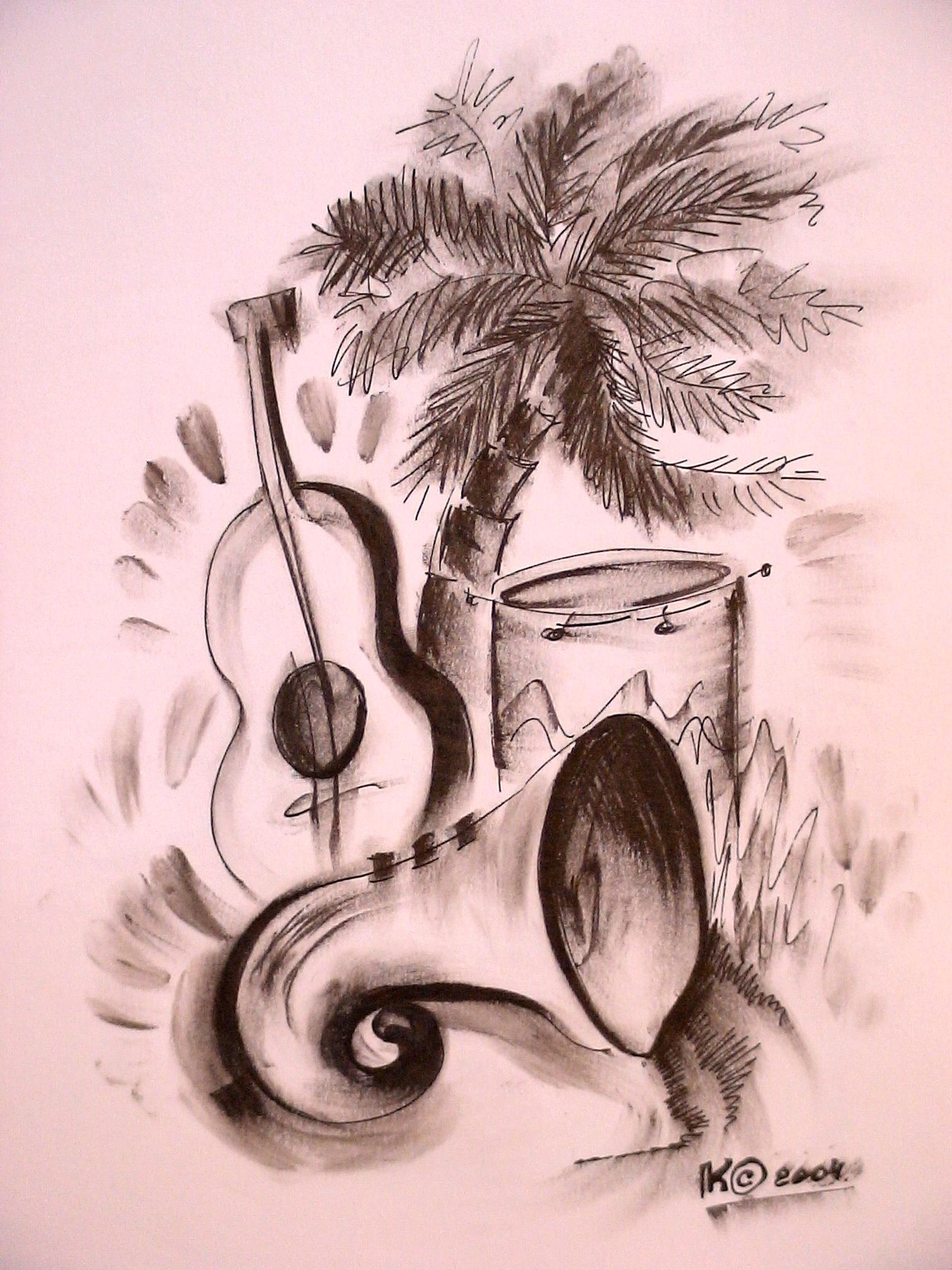джаз...(бумага, гел. ручка)