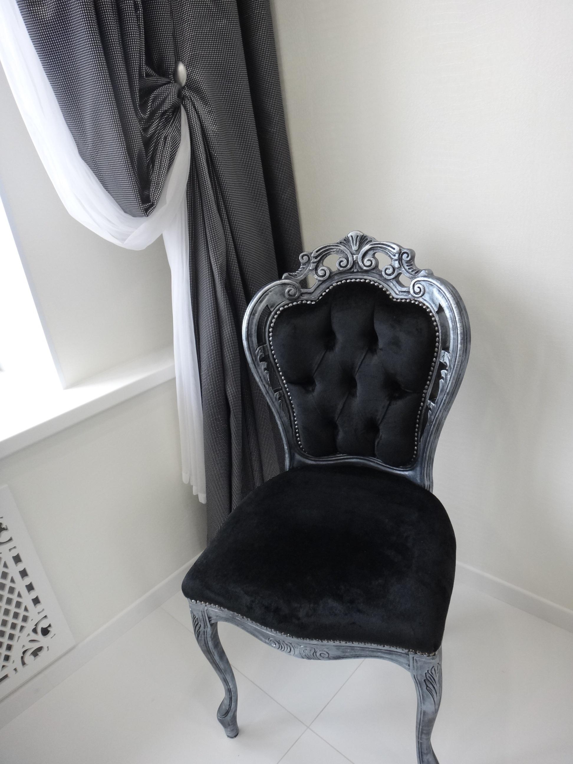 Декорирование стульев Черненое серебро (акрил)