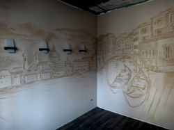 Роспись стен (стена, акрил,  7 м2)