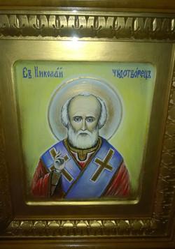 Икона Николай Чудотворец (иконная доска, темпера, 21на25, 11.11 (3)