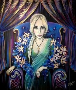 Портрет Светлая (Светлана Михайловна Лапина), 100на120 холст, акрил 2015 (10)