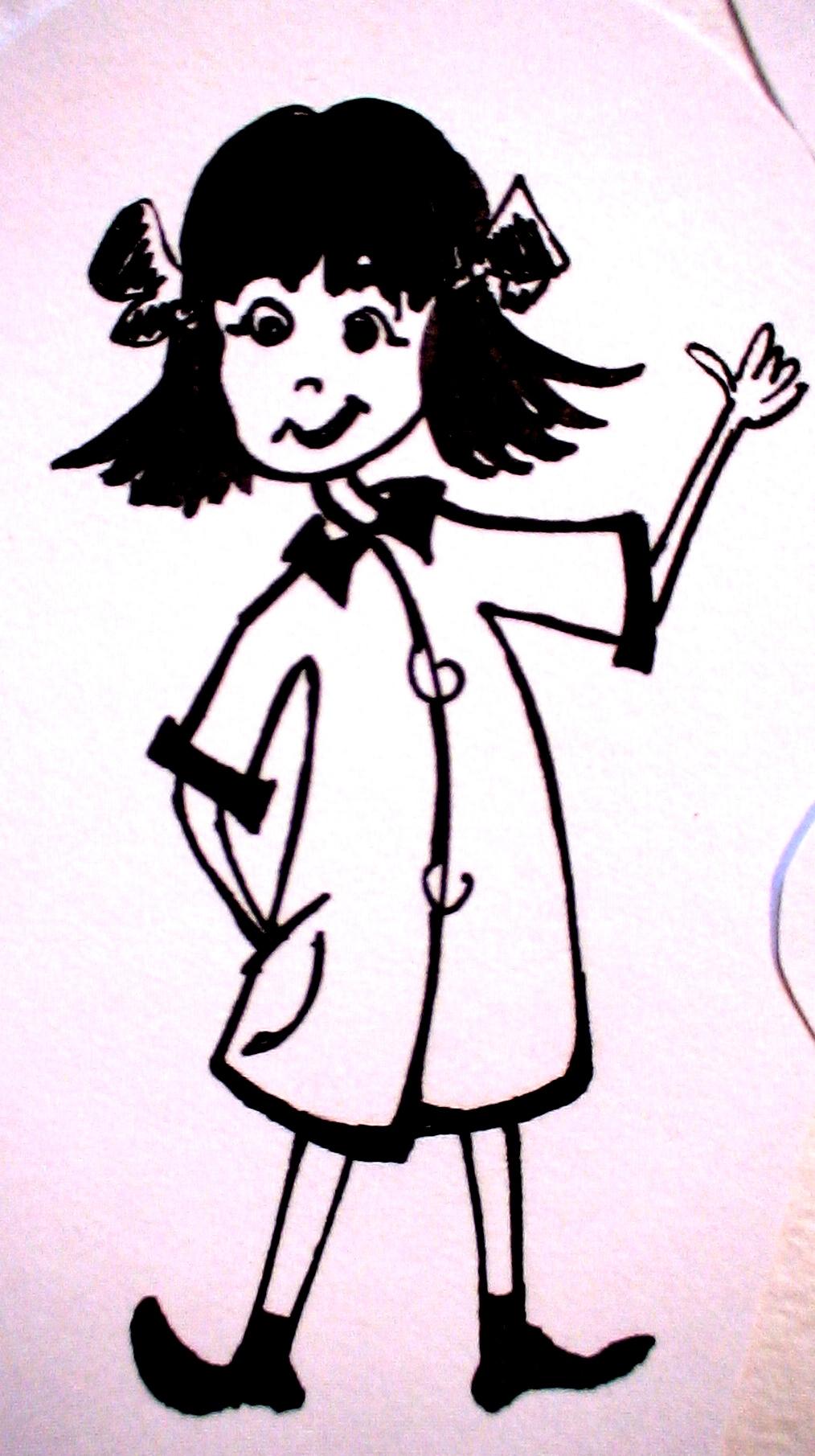 карикатурка-девчонка