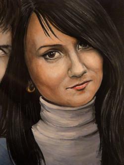 Катя - фрагмент парного портрета