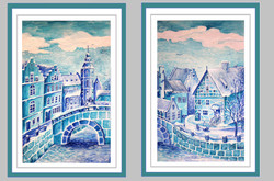 иллюстрация к Снежной королеве (А3, бумага, темпера, акрил)