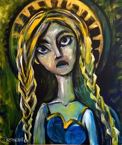 Портрет Дева 100на120 холст, акрил, 2015 (5)
