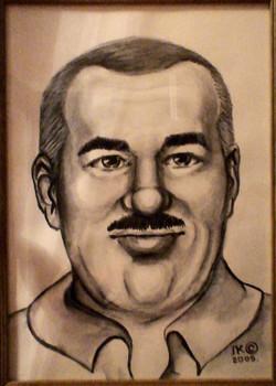 Портрет рисунок Гаврилович (бумага А4 акварель карандашь)