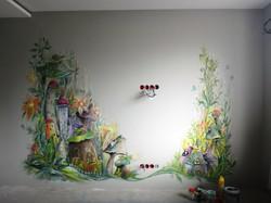 Роспись стен в детской, акрил