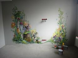 Роспись стен в детской (акрил)