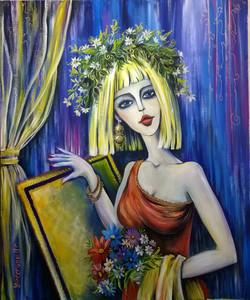 Портрет Муза 100на120 холст, акрил, 2015 (1)