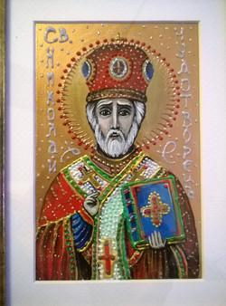 Икона Николай Угодник (А5, дсп, акрил,  03.03 (5)