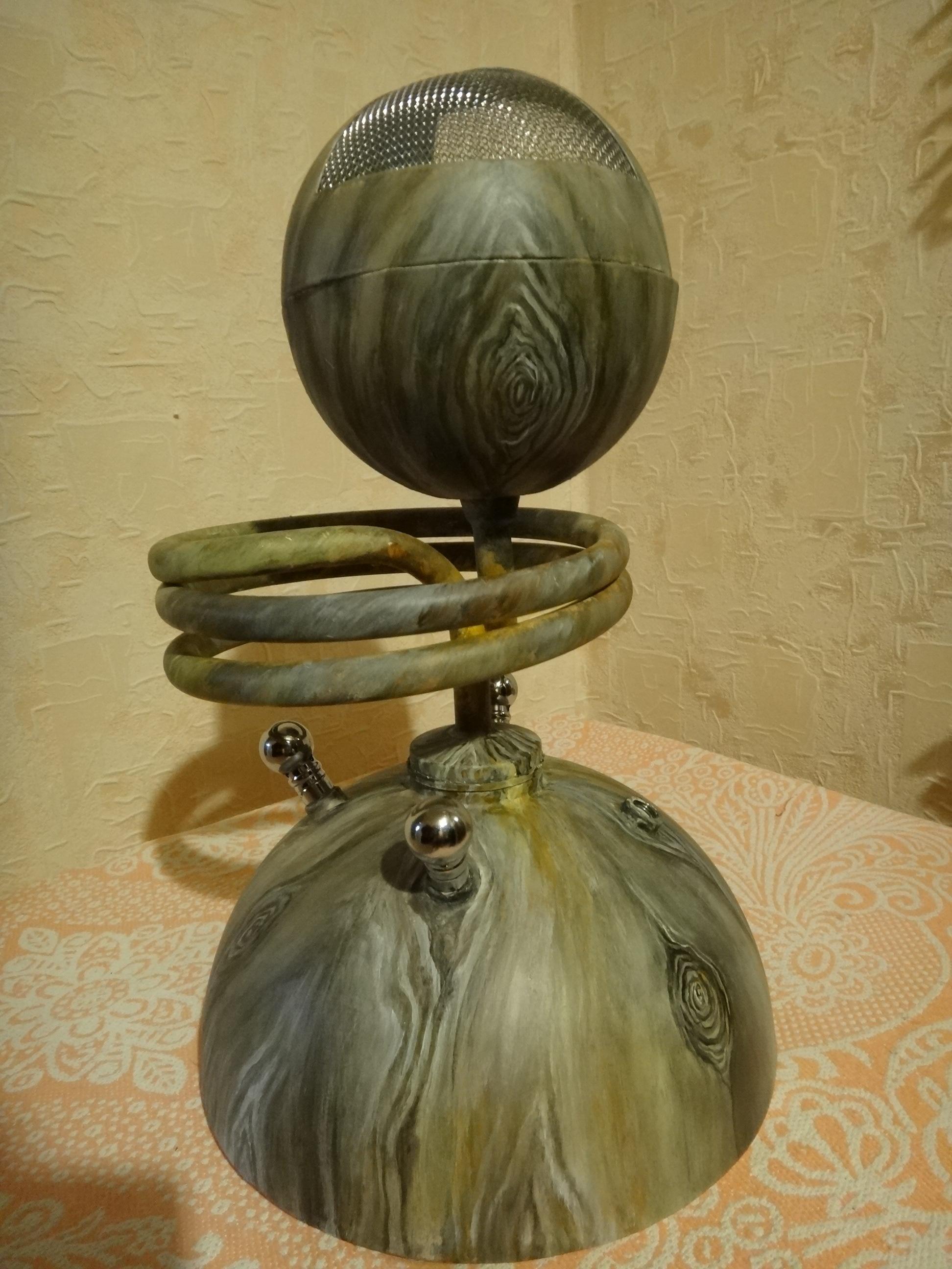 кальян из металла (роспись под дерево, акрил, лак)