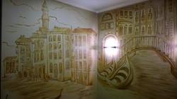 Роспись стен в гостинной Монохромная 2015 акрил (5)