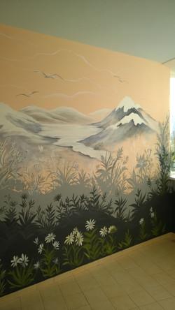 Роспись стен Лоджия 2015 акрил (7)