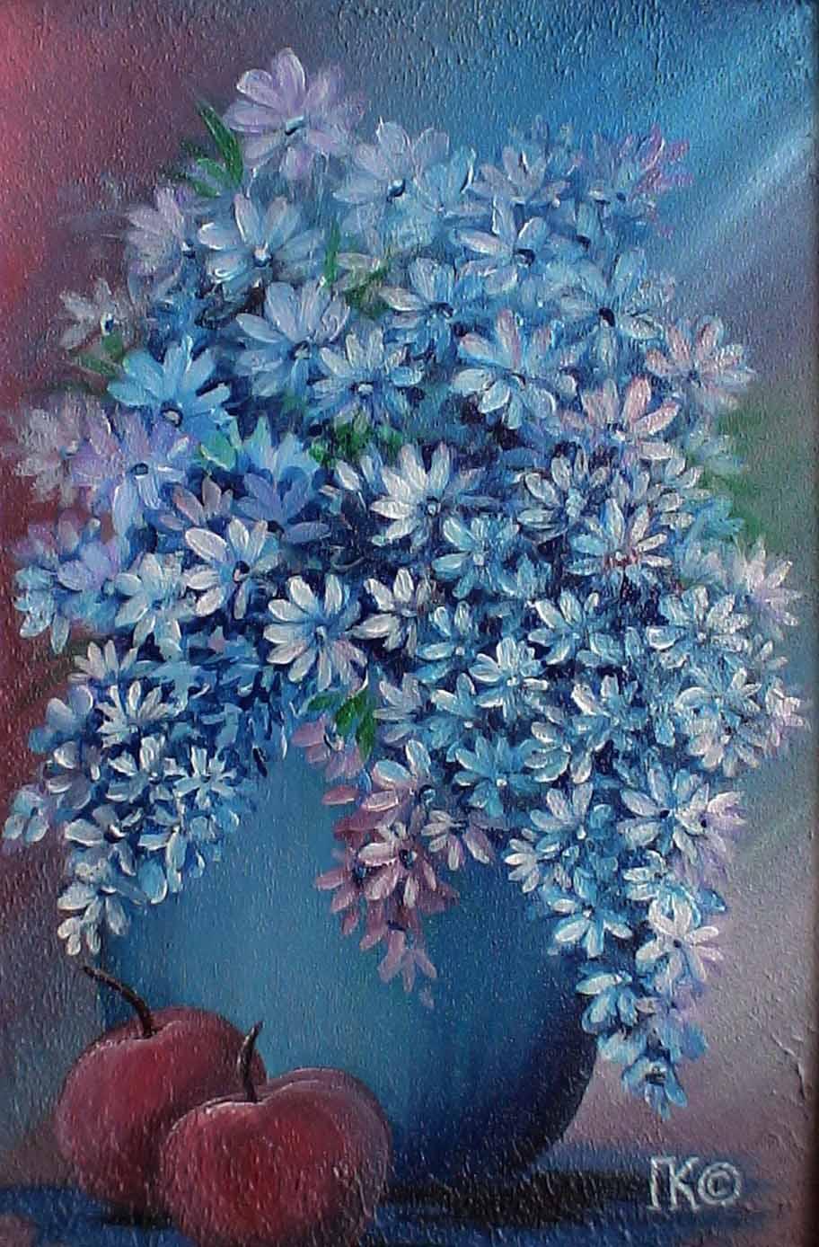 Синий натюрморт (300х400, двп, акрил)