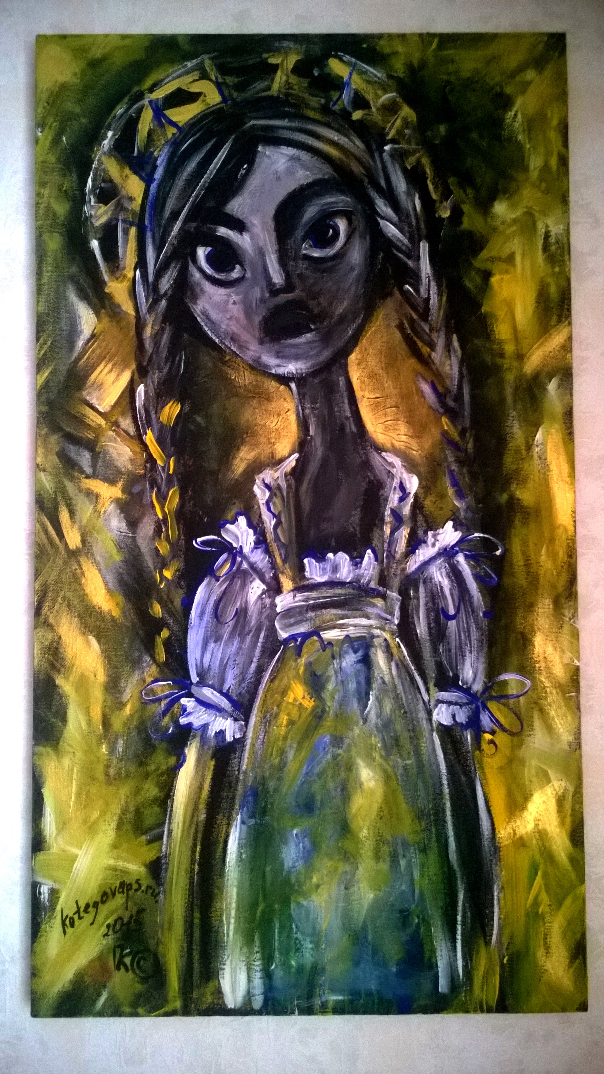 Портрет Панночка 50на90 холст, акрил,2015 (1)