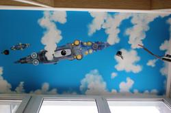 потолок на лоджии космический корабль