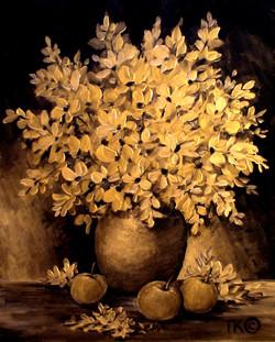 Золотой натюрморт (340х430, двп, акрил)