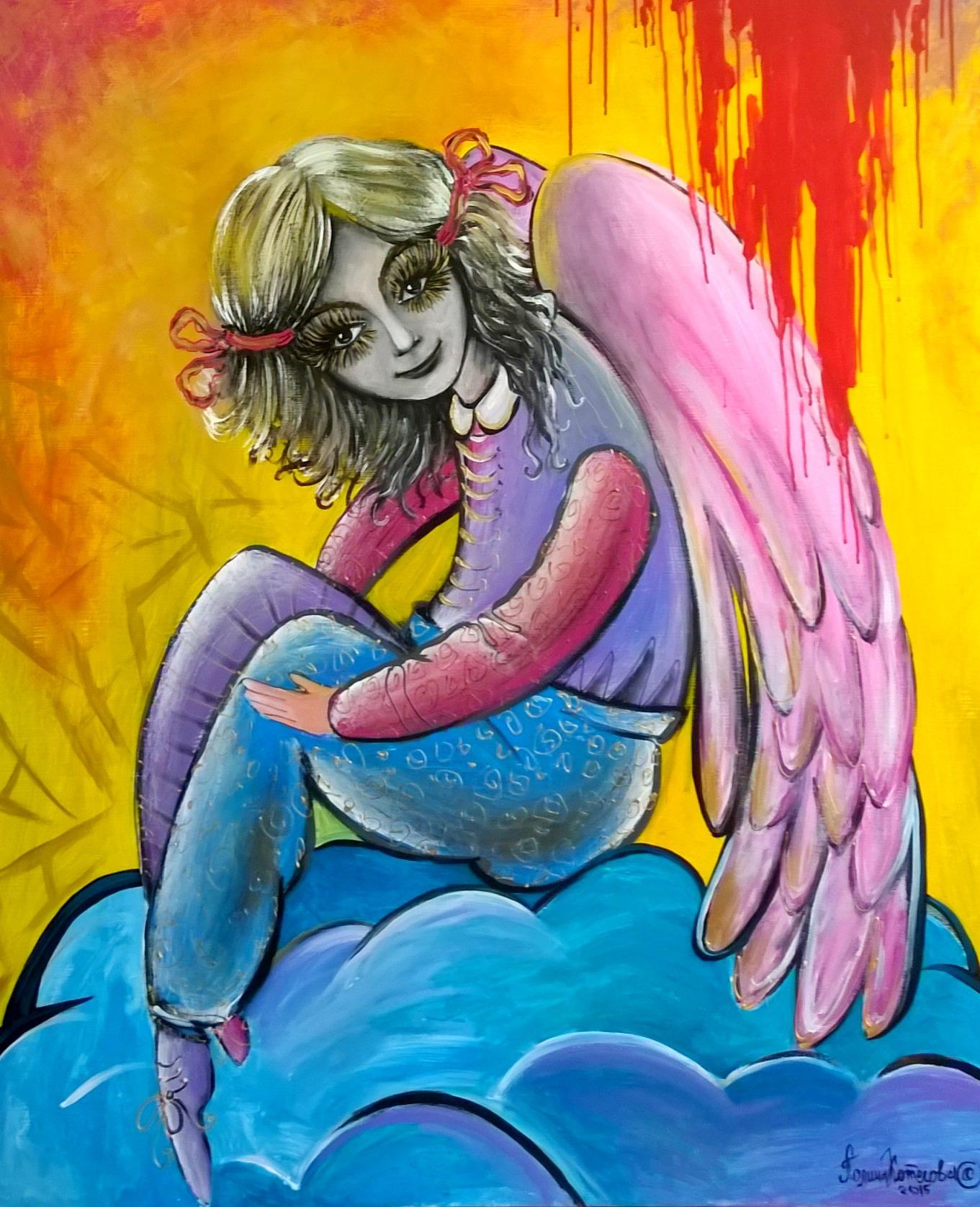 Портрет Коварный ангел 100на120 холст, акрил, 2015 (3)