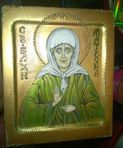 Икона Блаженная Матрона (иконная доска, акрил, 21на25, 22.06 (6)