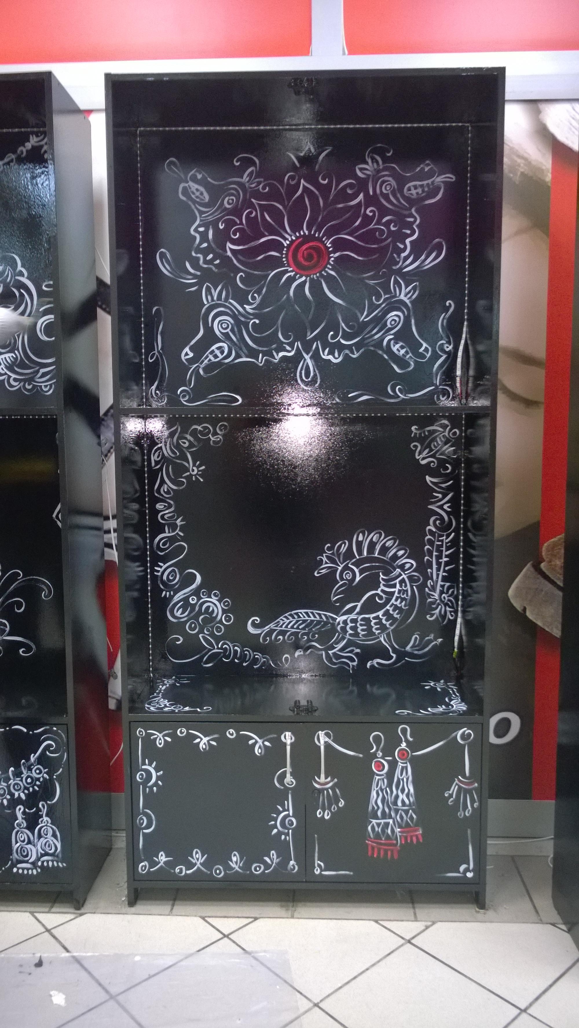 Роспись шкафа скифская этника 2015 акрил (4)