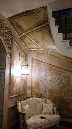 Роспись потолка, стен шоколадный холл