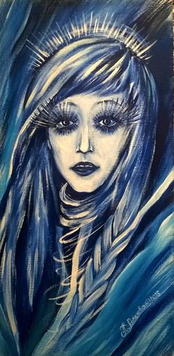 Портрет Снежная 30на60 холст, акрил, 2015 (2)