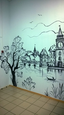 Роспись стен офис ноябрь 2015 акрил (29)
