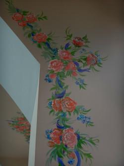Роспись потолка (акрил 14 м2)