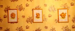 Триптих натюрморты Для кухни Бумага А4 акварель