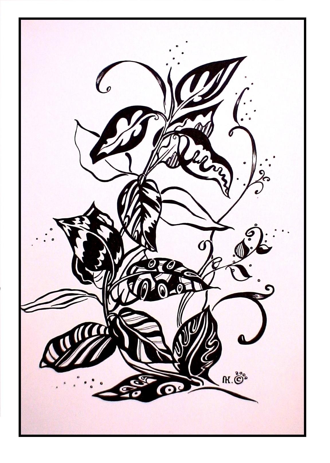 Красавчик (А4, бумага, гелевая ручка)