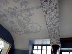 Роспись потолка в обеденной зоне