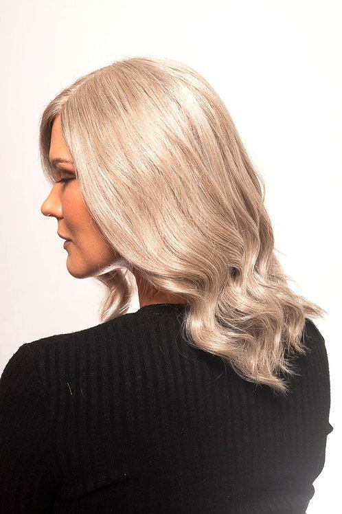 """16"""" Natural Grey Remy Human Hair Wig"""